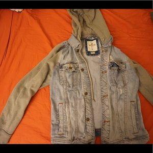 Distressed Hollister Denim Jacket.